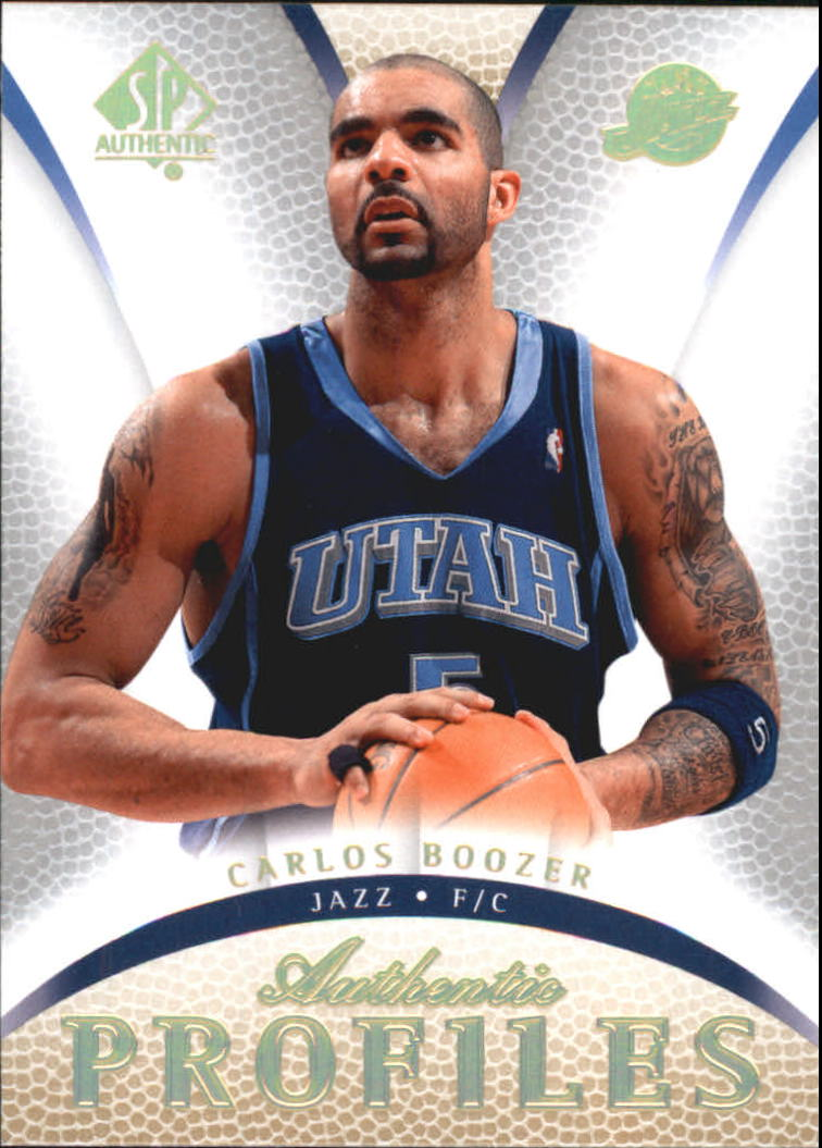 2007-08 SP Authentic Profiles #AP22 Carlos Boozer