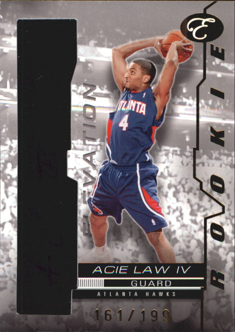 2007-08 Bowman Elevation Rookie Writings Red #RWAL4 Acie Law