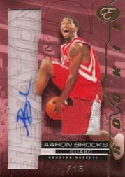 2007-08 Bowman Elevation Rookie Writings Patches #RWAB Aaron Brooks