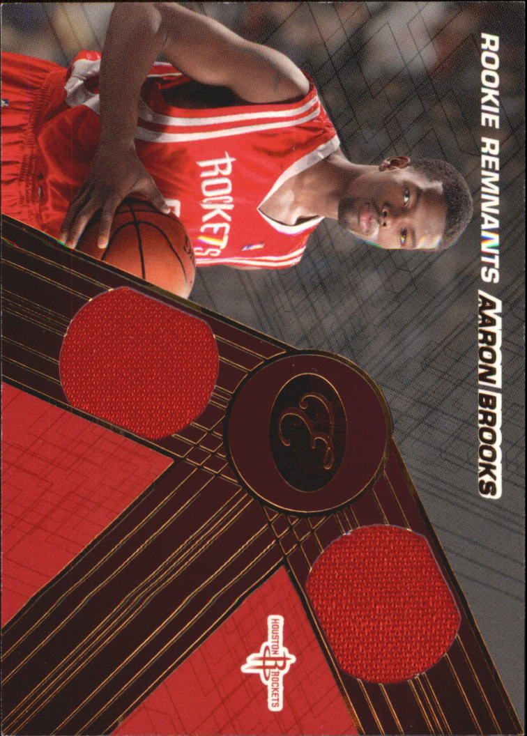 2007-08 Bowman Elevation Rookie Relics Dual 79 #AB Aaron Brooks