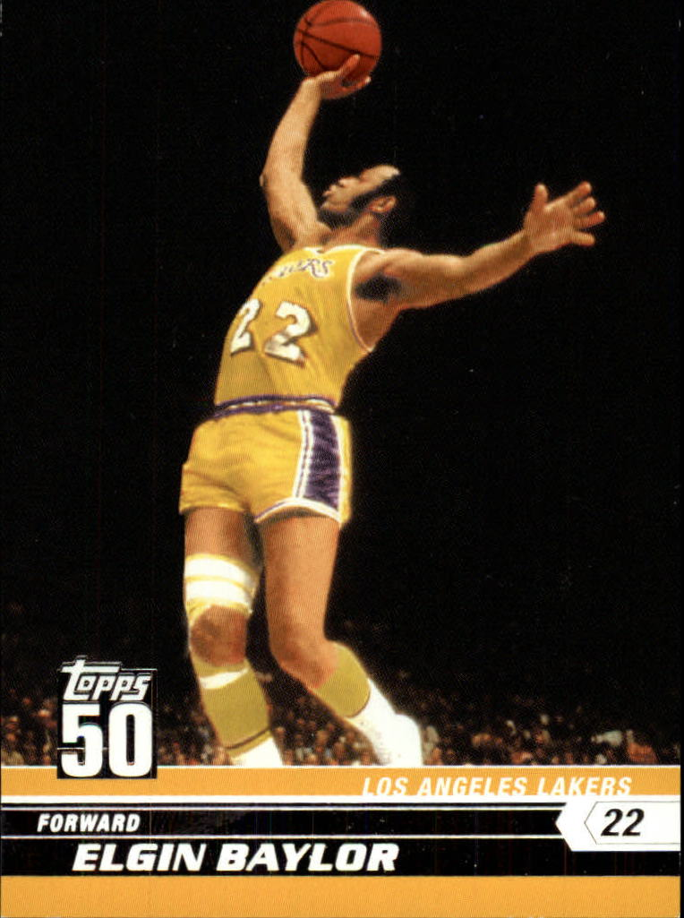 2007-08 Topps 50th Anniversary #16 Elgin Baylor