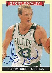 2008 Upper Deck Goudey Sport Royalty Autographs #LB Larry Bird SP