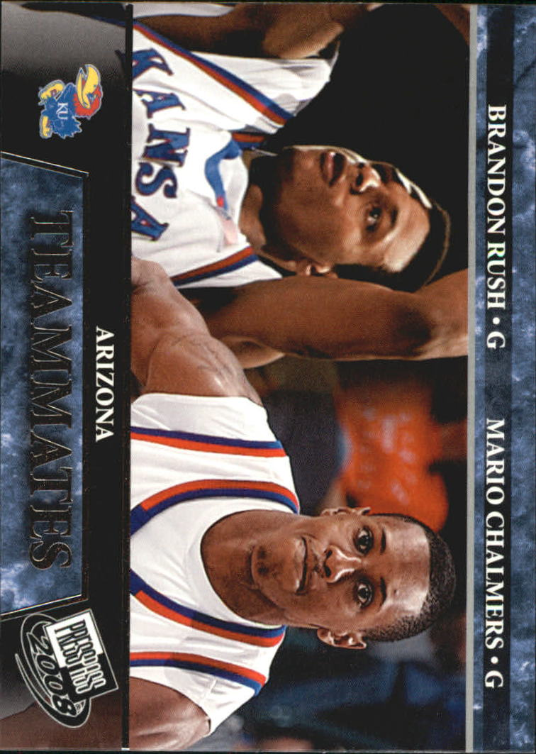 2008 Press Pass #60 Brandon Rush/Mario Chalmers