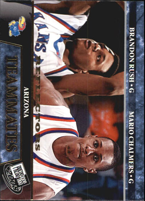 2008 Press Pass Reflectors #60 Brandon Rush/Mario Chalmers