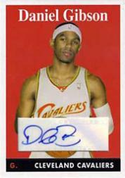 2008-09 Topps 1958-59 Variations Autographs #39 Daniel Gibson D