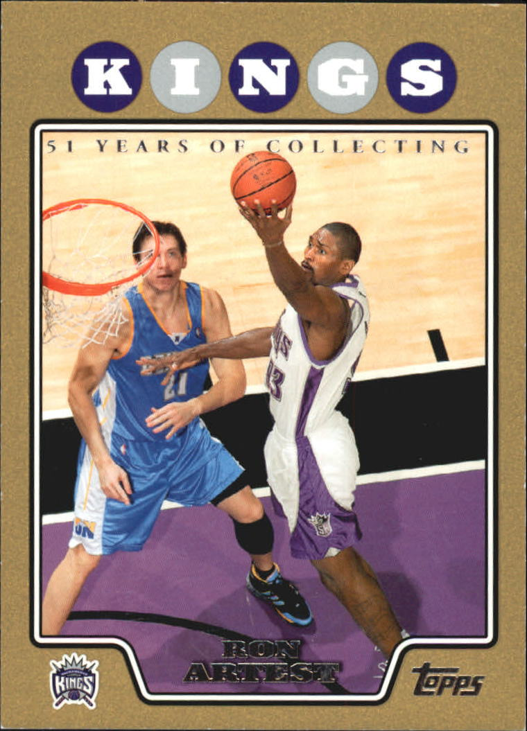 2008-09 Topps Gold Border #93 Ron Artest