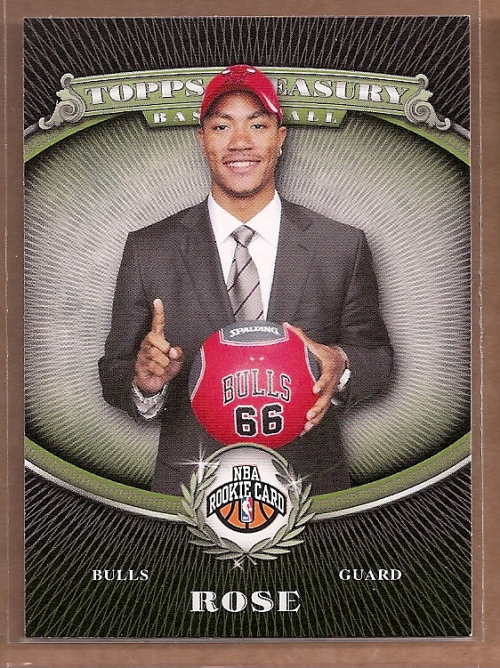 2008-09 Topps Treasury #101 Derrick Rose RC