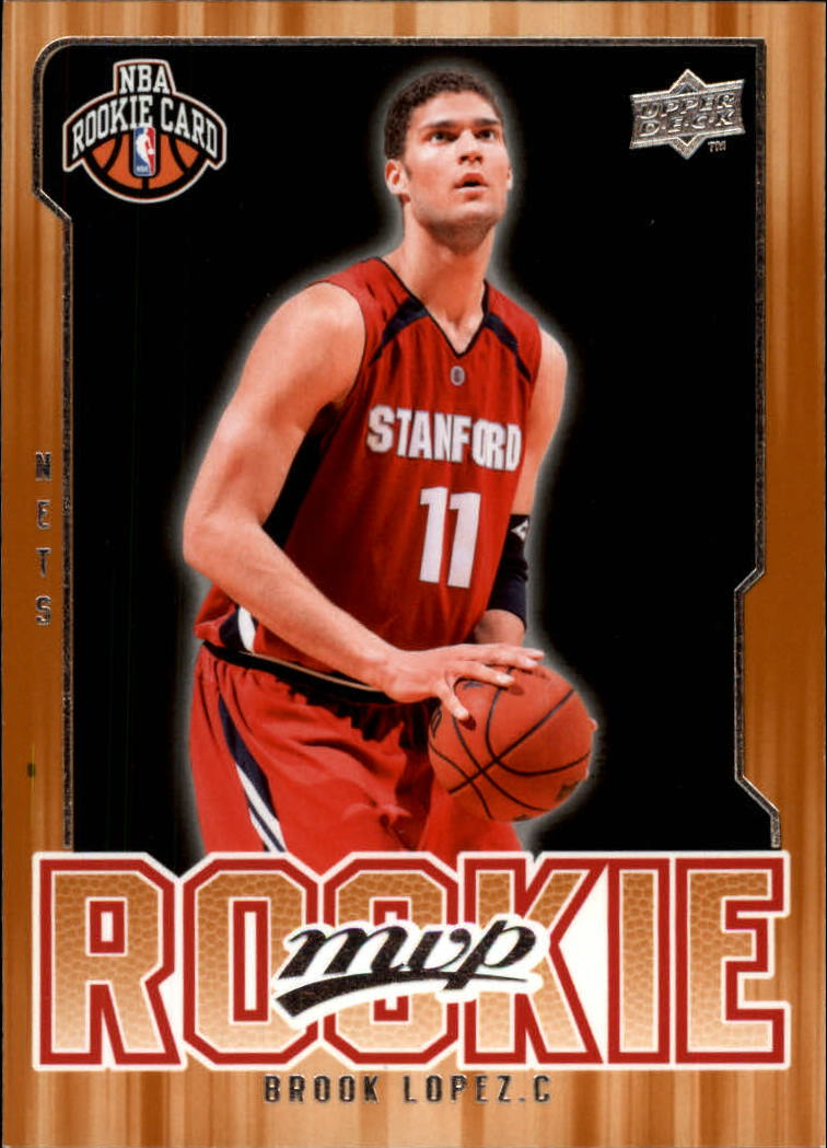 2008-09 Upper Deck MVP #210 Brook Lopez RC