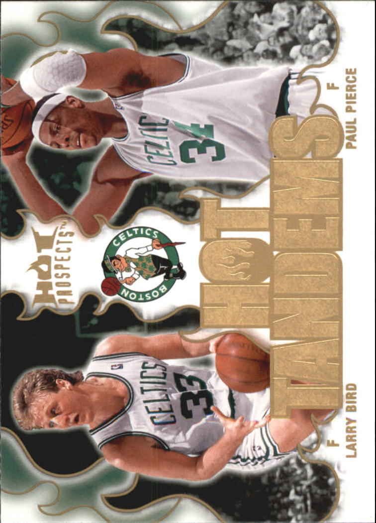 2008-09 Hot Prospects Hot Tandems #HT1 Larry Bird/Paul Pierce