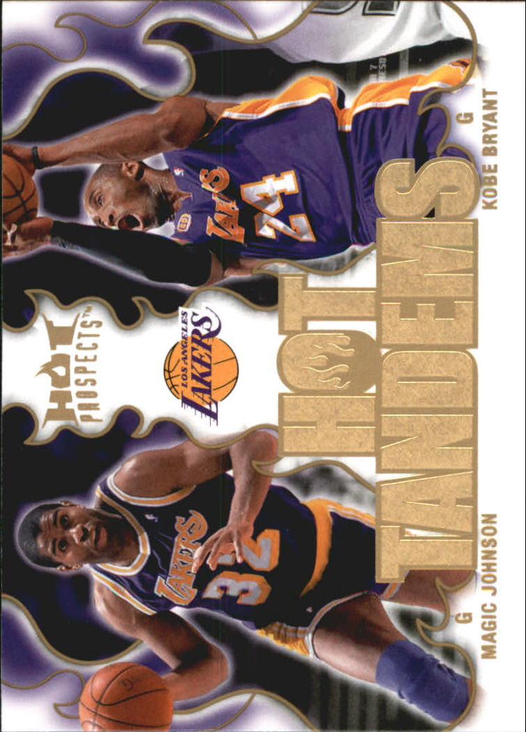 2008-09 Hot Prospects Hot Tandems #HT9 Magic Johnson/Kobe Bryant