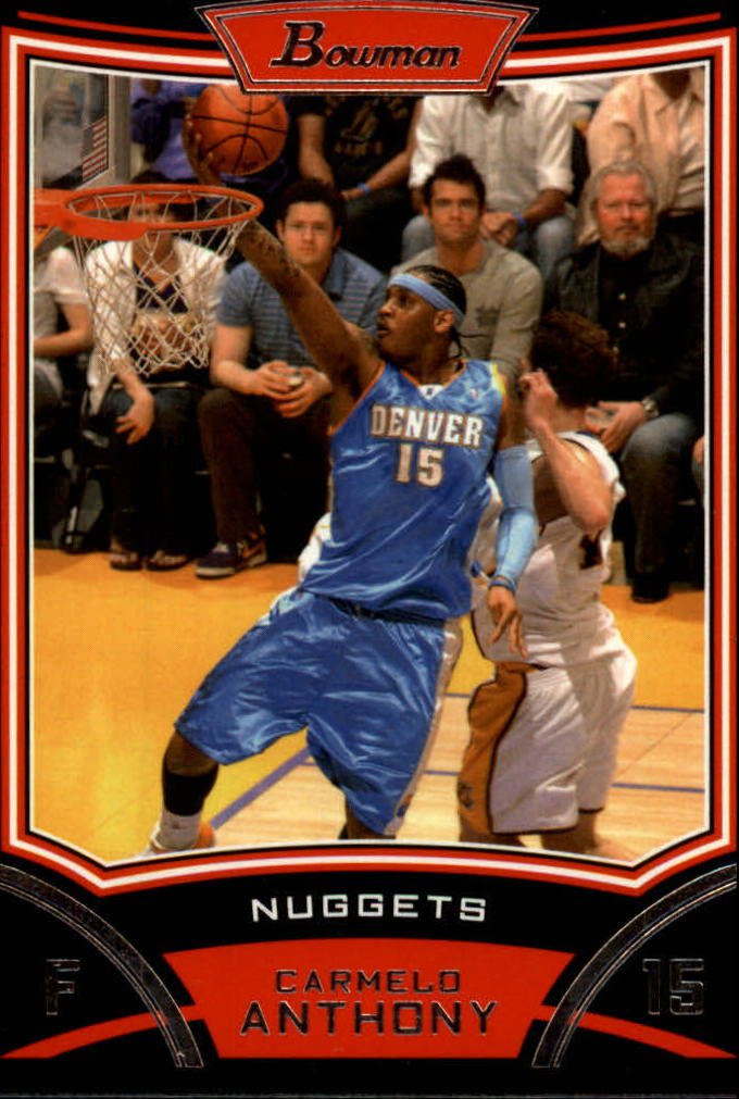 2008-09 Bowman #15 Carmelo Anthony