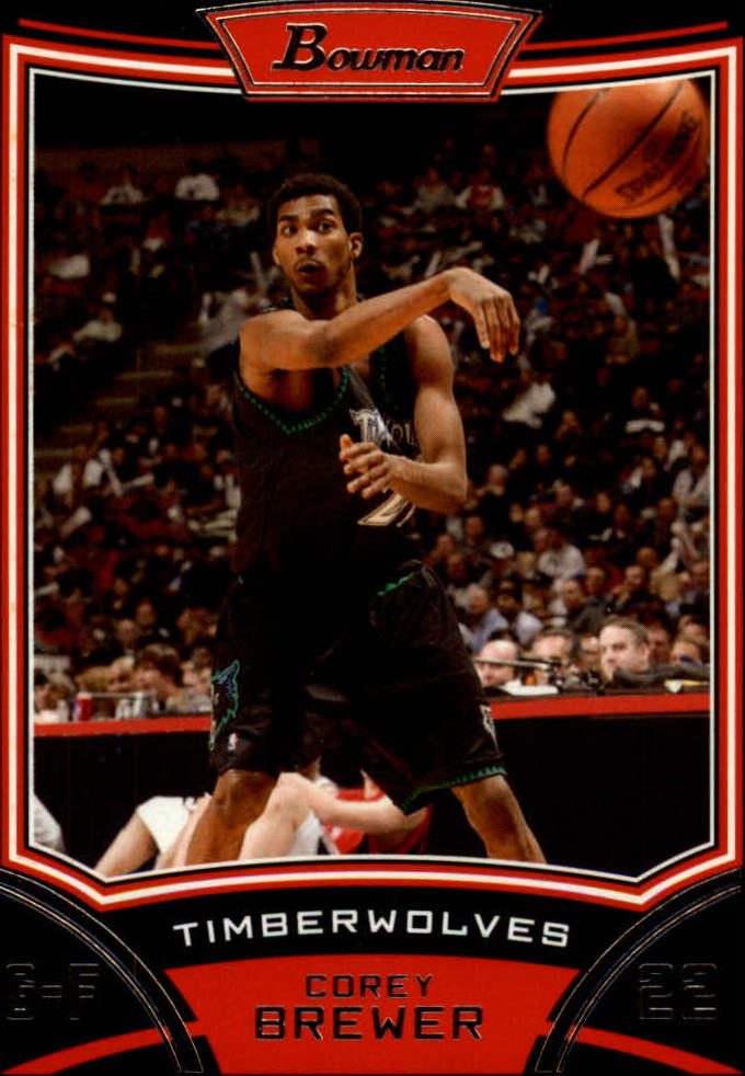 2008-09 Bowman #17 Corey Brewer