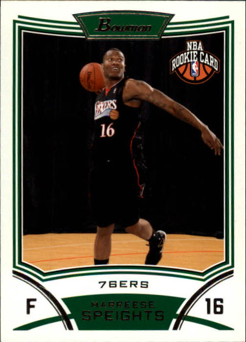 2008-09 Bowman #125 Marreese Speights RC