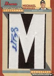 2008-09 Bowman Destination Letterman Autographs #DALMB Michael Beasley