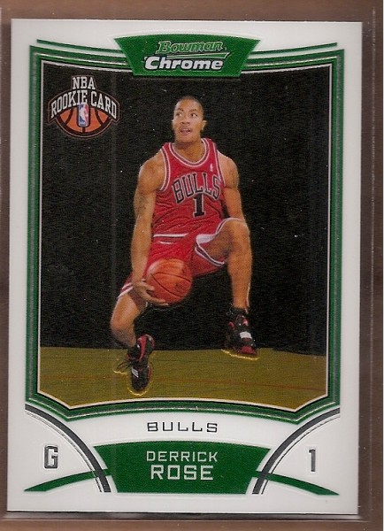 2008-09 Bowman Chrome #111 Derrick Rose RC