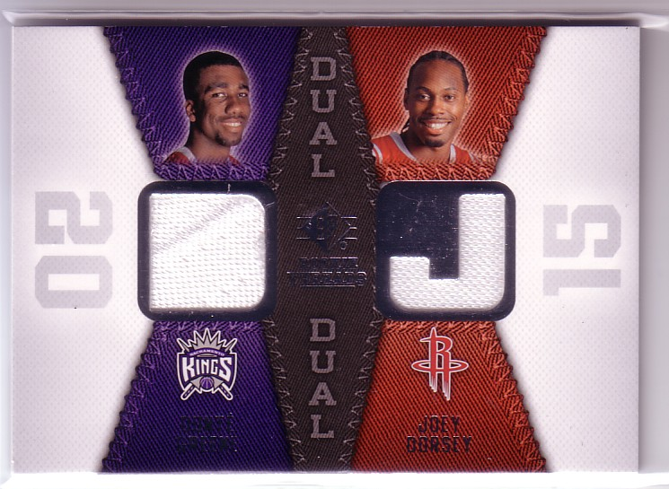 2008-09 SP Rookie Threads Rookie Threads Dual #RTDGD Donte Greene/Joey Dorsey
