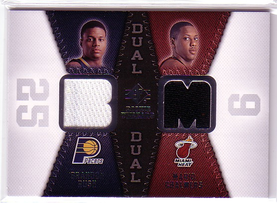 2008-09 SP Rookie Threads Rookie Threads Dual #RTDRC Brandon Rush/Mario Chalmers