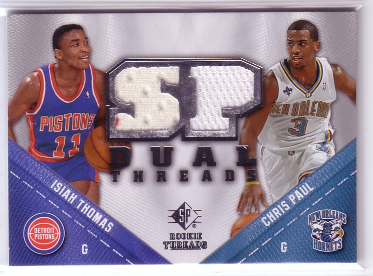 2008-09 SP Rookie Threads SP Threads Dual #TDPT Isiah Thomas/Chris Paul