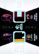 2008-09 SP Rookie Threads Rookie Threads Dual Patch #RTDRC Brandon Rush/Mario Chalmers