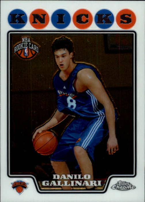 2008-09 Topps Chrome #186 Danilo Gallinari RC