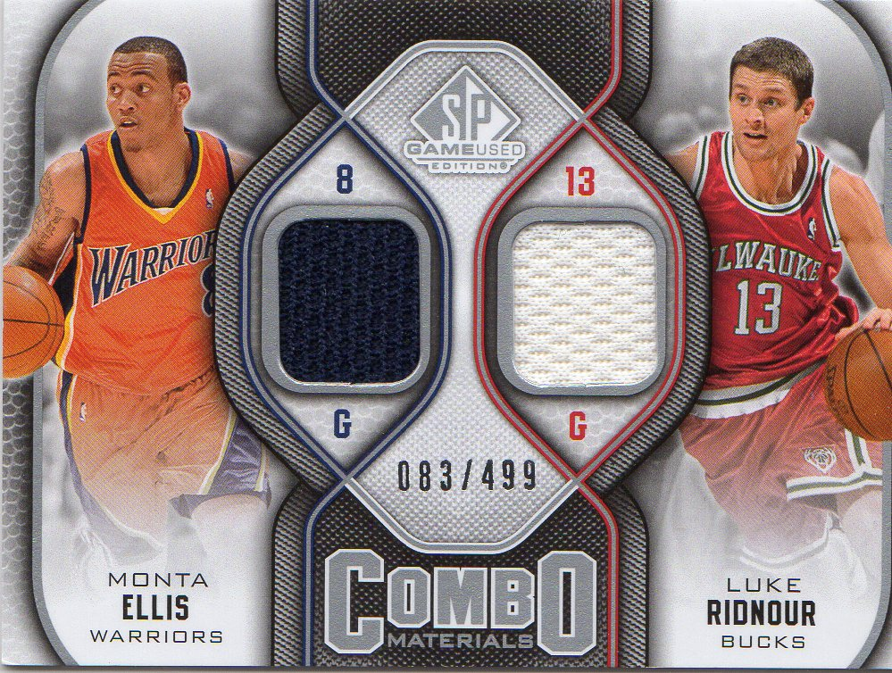 2009-10 SP Game Used Combo Materials #CMRE Luke Ridnour/Monta Ellis