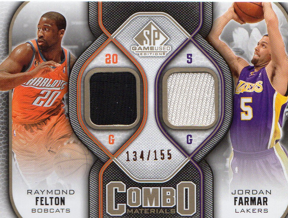 2009-10 SP Game Used Combo Materials 155 #CMRJ Jordan Farmar/Raymond Felton