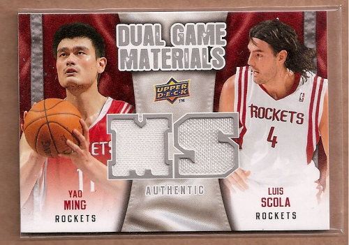 2009-10 Upper Deck Game Materials Dual #DGYS Luis Scola/Yao Ming