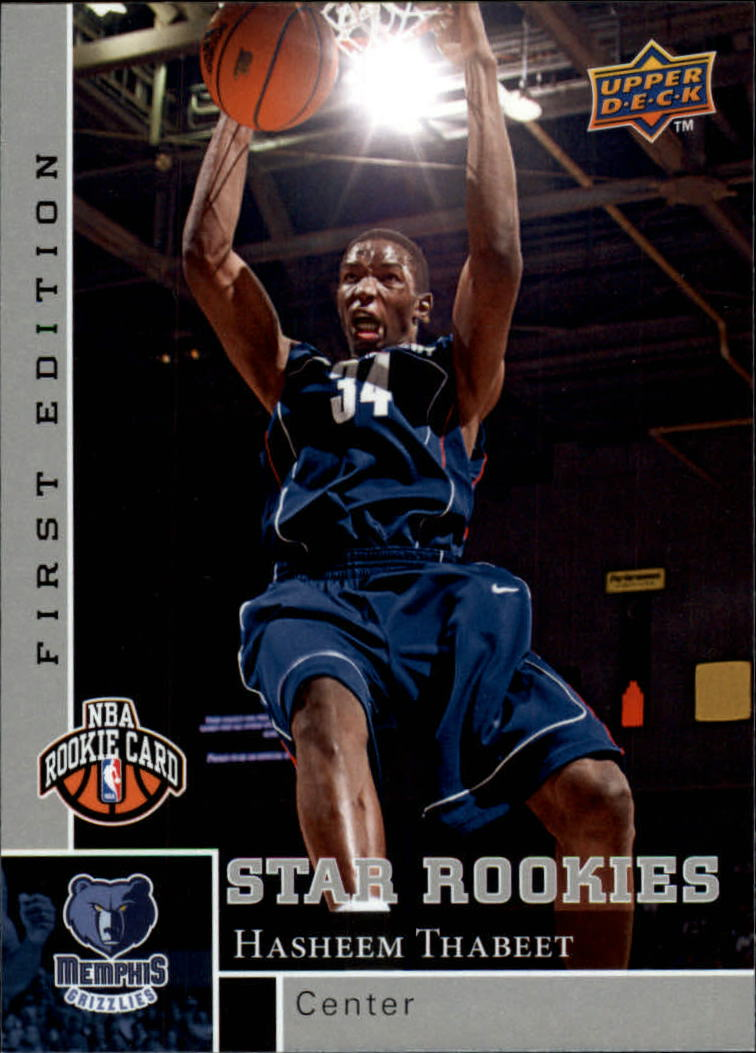 2009-10 Upper Deck First Edition #187 Hasheem Thabeet RC