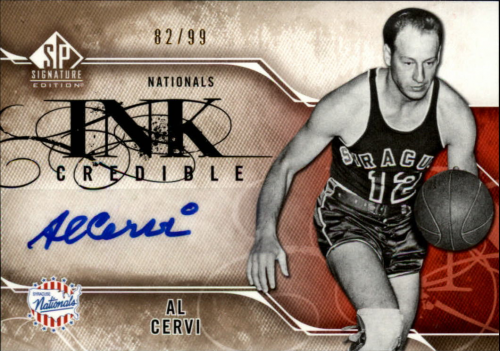2009-10 SP Signature Edition INKredible #IAC Al Cervi/99