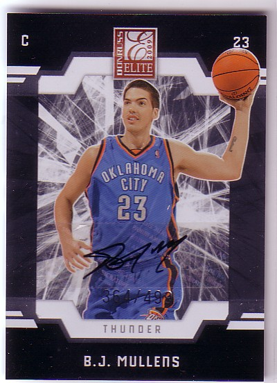 2009-10 Donruss Elite #182 B.J. Mullens AU RC