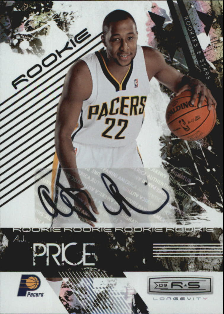 2009-10 Rookies and Stars Longevity Signatures #125 A.J. Price/474