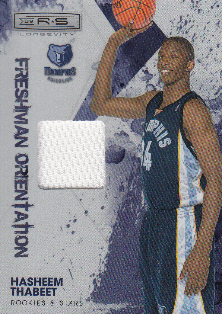 2009-10 Rookies and Stars Longevity Freshman Orientation Materials Jerseys #2 Hasheem Thabeet