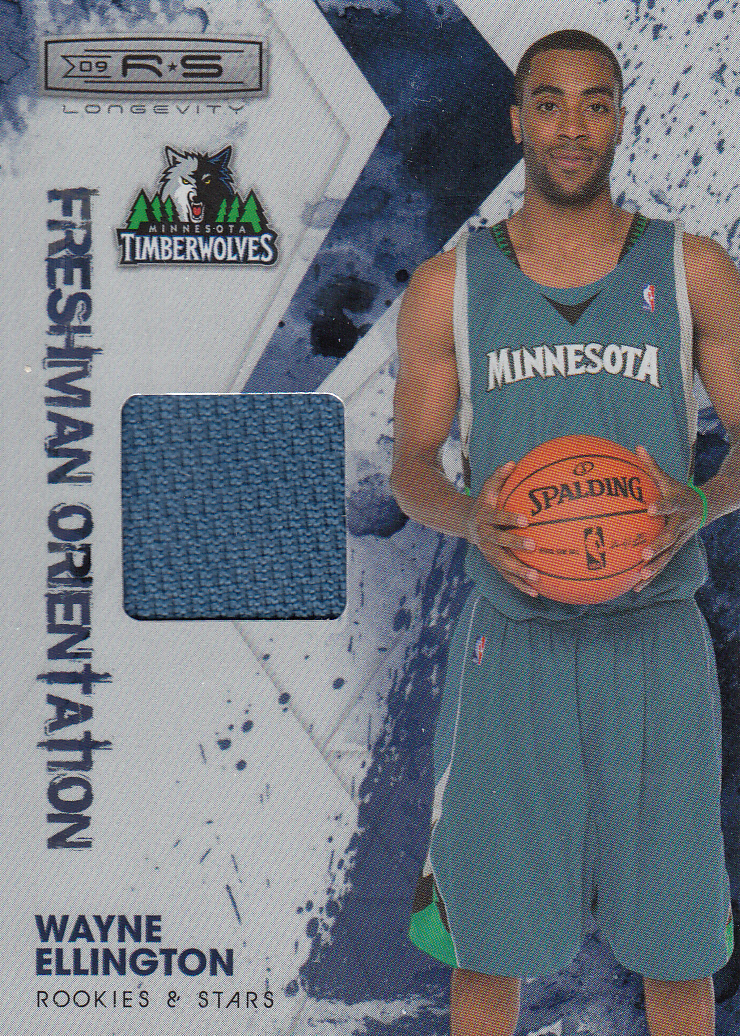 2009-10 Rookies and Stars Longevity Freshman Orientation Materials Jerseys #26 Wayne Ellington