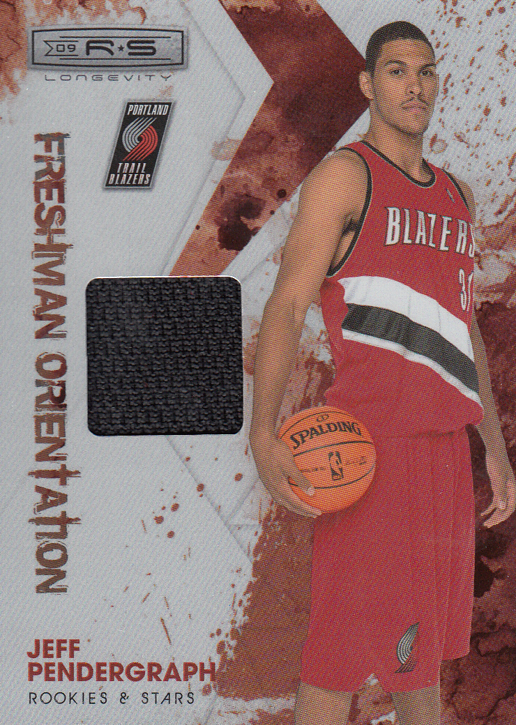 2009-10 Rookies and Stars Longevity Freshman Orientation Materials Jerseys #29 Jeff Pendergraph
