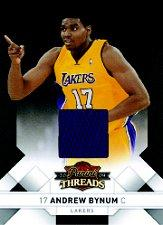 2009-10 Panini Threads Jerseys #81 Andrew Bynum/100
