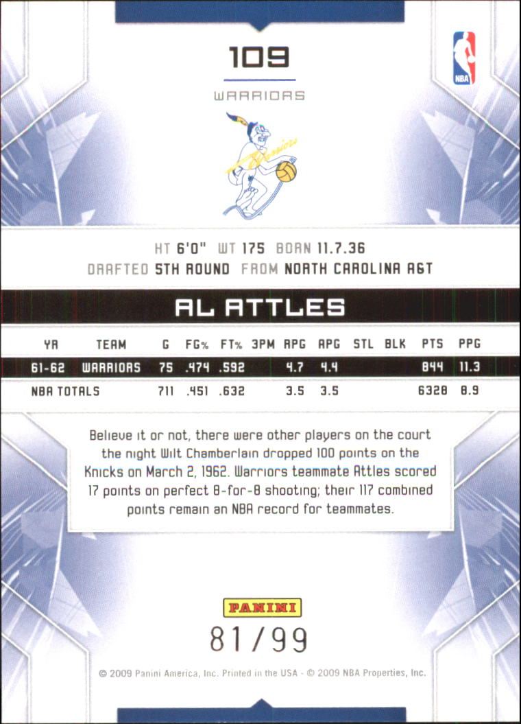 2009-10 Limited #109 Al Attles back image
