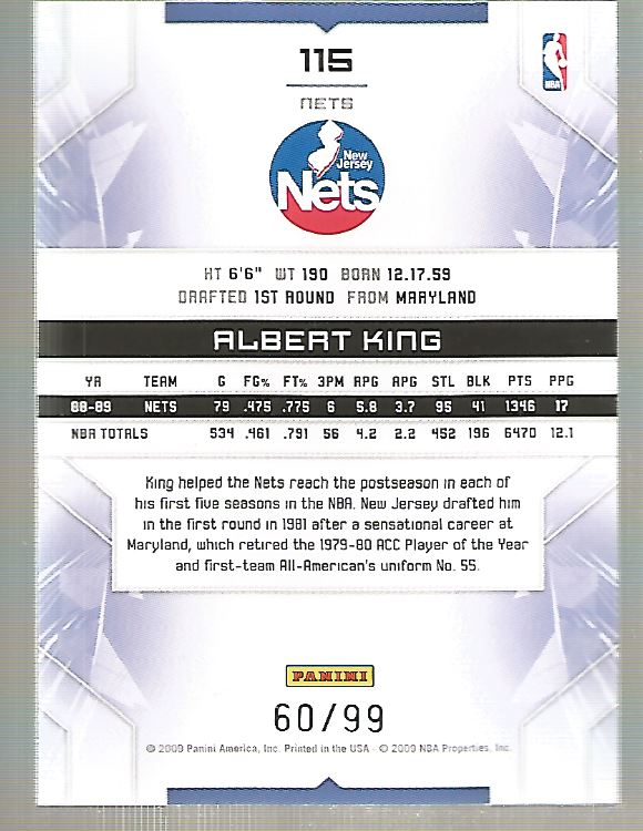 2009-10 Limited #115 Albert King