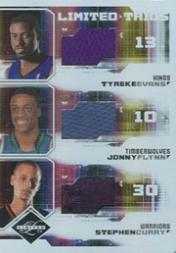 2009-10 Limited Trios Materials #5 Tyreke Evans/Jonny Flynn/Stephen Curry
