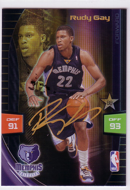 2009-10 Adrenalyn XL Extra Signature #7 Rudy Gay