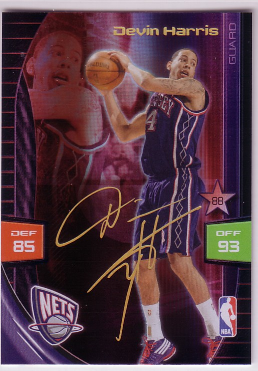 2009-10 Adrenalyn XL Extra Signature #11 Devin Harris