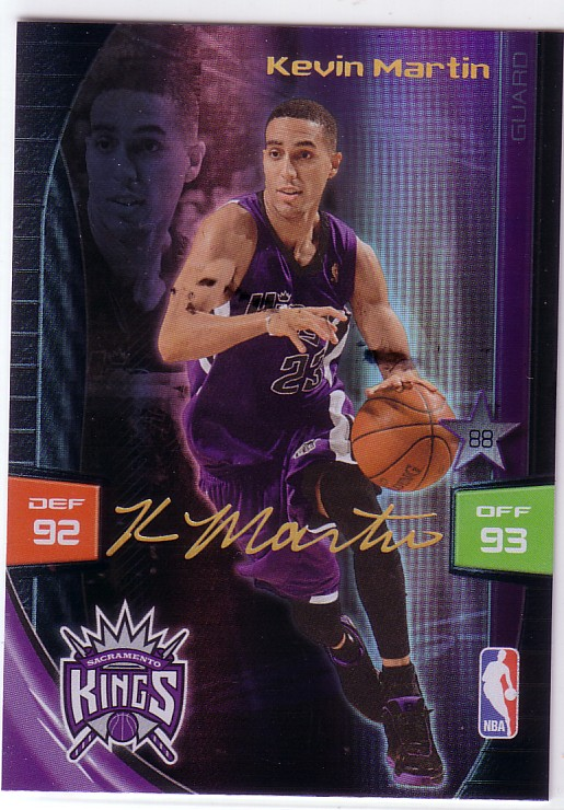 2009-10 Adrenalyn XL Extra Signature #18 Kevin Martin