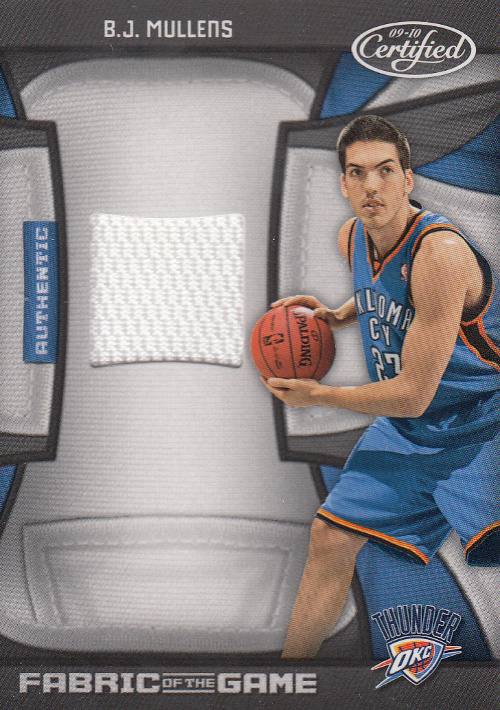 2009-10 Certified Fabric of the Game #191 B.J. Mullens/250
