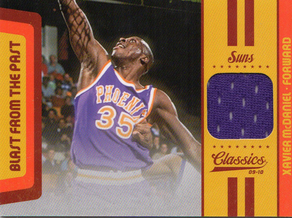 2009-10 Classics Blast From The Past Jerseys #16 Xavier McDaniel/199