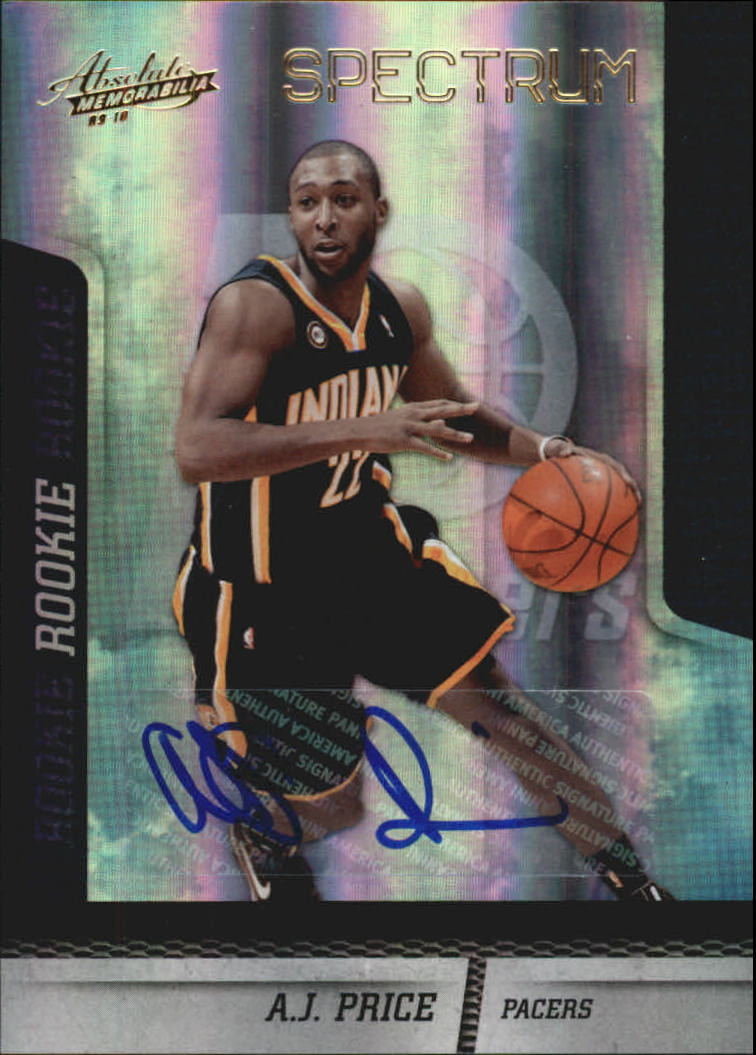2009-10 Absolute Memorabilia Spectrum Signatures Gold #129 A.J. Price/249