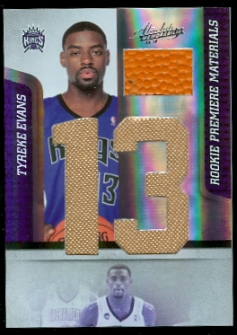 2009-10 Absolute Memorabilia Rookie Materials Jumbo Jersey Numbers Basketball #166 Tyreke Evans