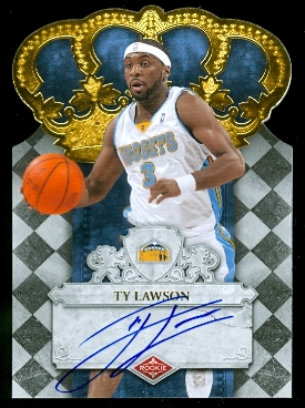 2009-10 Crown Royale #106 Ty Lawson AU/599 RC