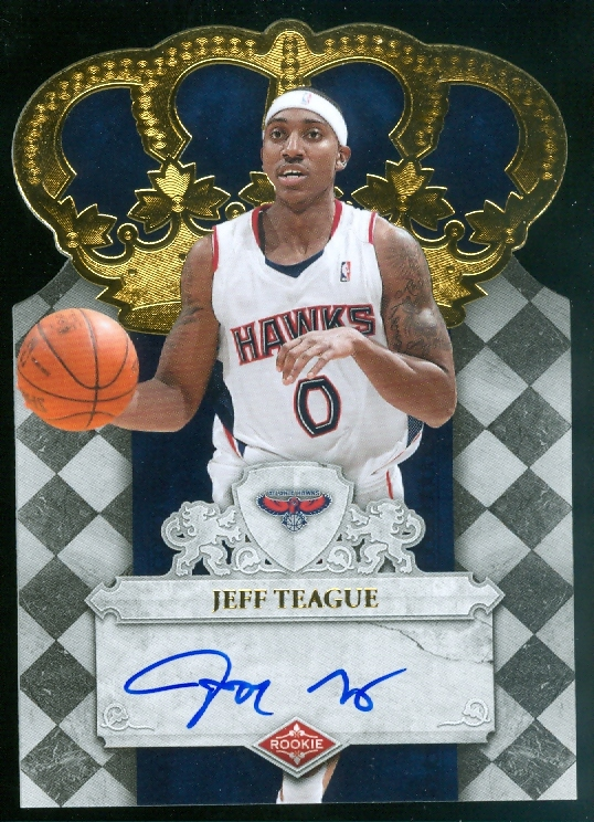2009-10 Crown Royale #115 Jeff Teague AU/599 RC