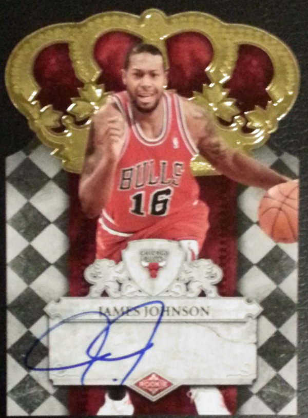 2009-10 Crown Royale #124 James Johnson AU/593 RC
