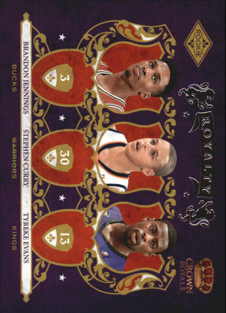 2009-10 Crown Royale Rookie Royalty #1 Brandon Jennings/Stephen Curry/Tyreke Evans