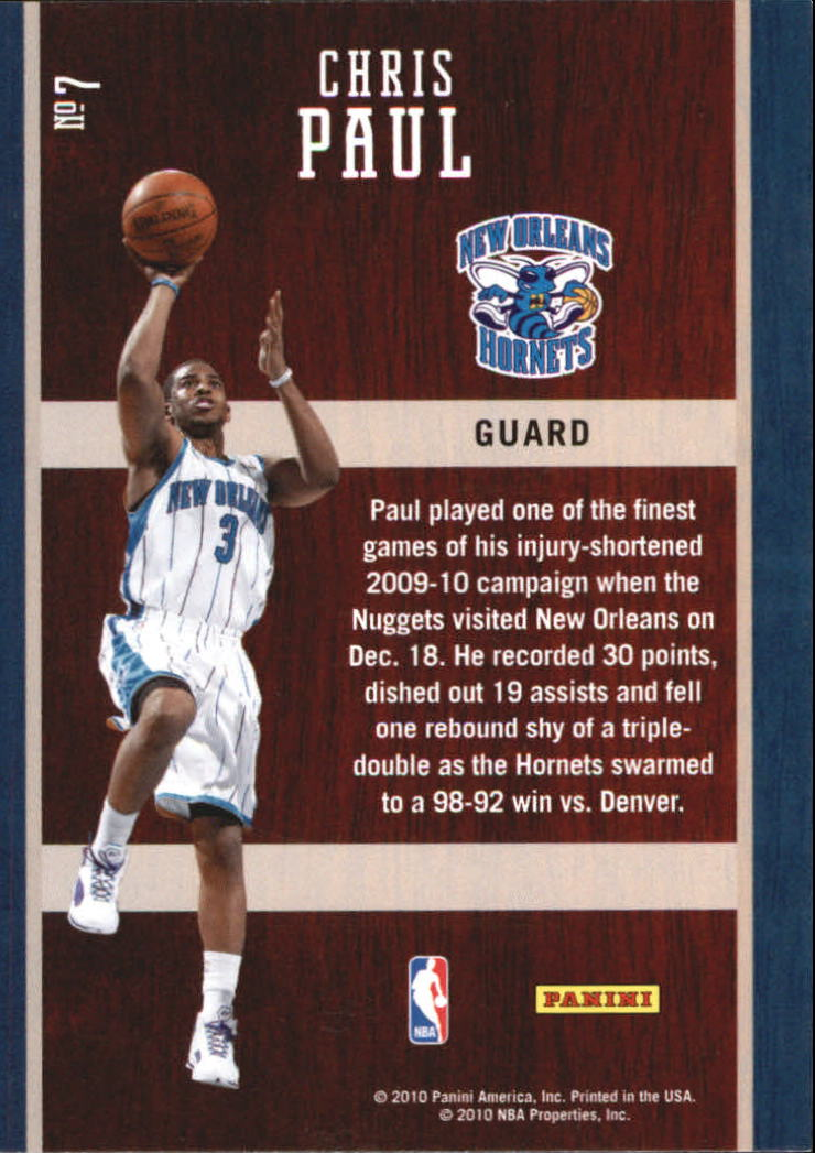 2010-11 Prestige Hardcourt Heroes #7 Chris Paul back image